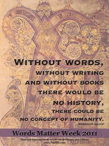 Words Matter 2011 Poster